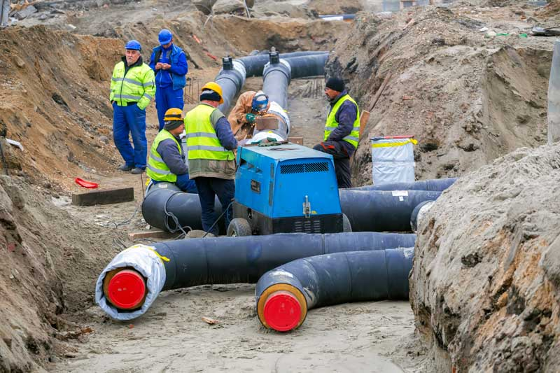 Underground mechanical piping